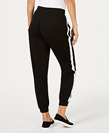 Style & Co Side-Striped Jogger Pants, Created for Macy's