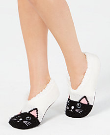 Charter Club Women's Cat Slipper Socks, Created for Macy's