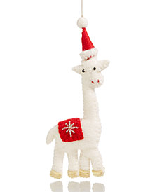 Global Goods Partners Embellished Felt Giraffe Ornament