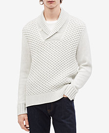Calvin Klein Men's Textured Shawl-Collar Sweater