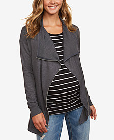 Motherhood Maternity Draped French Terry Jacket