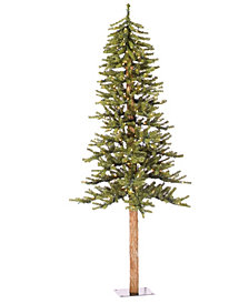 5' Natural Alpine Artificial Christmas Tree with 150 Multi-Colored Lights