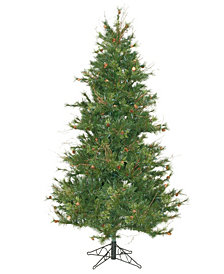 7.5' Mixed Country Pine Slim Artificial Christmas Tree.