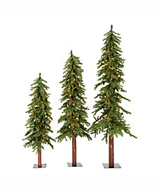 4' Flocked Spruce Artificial Christmas Tree with 150 Clear Lights