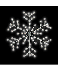 Vickerman 3 ½' Fancy Forked Snowflake Commercial Pole Decoration With 48 LED Lights.
