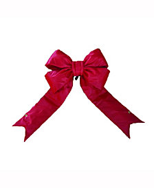 "Vickerman 12"" Red Nylon Outdoor Christmas Bow"