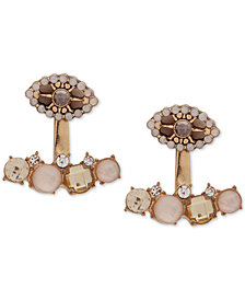 lonna & lilly Gold-Tone Multi-Stone Evil Eye Jacket Earrings