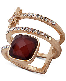 lonna & lilly Gold-Tone Crystal & Stone Star Ring, Created for Macy's