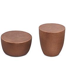 Nova Metal Occasional Furniture, 2-Pc. Set (Drum Coffee Table & Drum End Table)