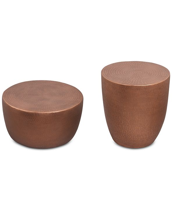 Furniture Nova Metal Table Furniture, 2-Pc. Set (Drum Coffee Table & Drum End Table)