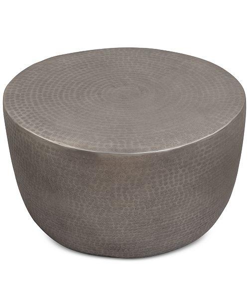 Drum Shaped Coffee Table.Nova Metal Drum Coffee Table