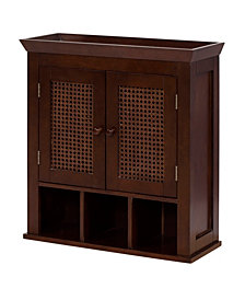 Cane 2 Door Wall Cabinet with Cubbies