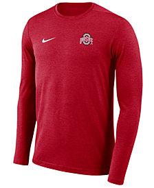 Nike Men's Ohio State Buckeyes Long Sleeve Dri-FIT Coaches T-Shirt