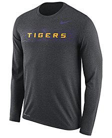 Nike Men's LSU Tigers Legend Sideline Long Sleeve T-Shirt 2018
