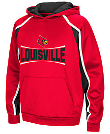 Colosseum Louisville Cardinals Poly Pullover Hoodie, Big Boys (8-20)