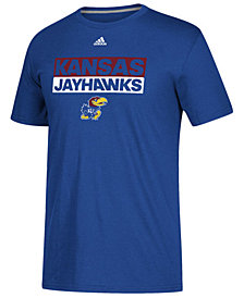 adidas Men's Kansas Jayhawks Performance Wordstack T-Shirt