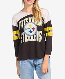 Women's Pittsburgh Steelers Liberty Throwback Raglan T-Shirt