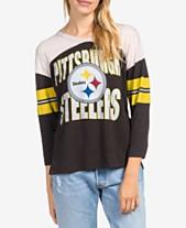 666f35abbd Junk Food Women's Pittsburgh Steelers Liberty Throwback Raglan T-Shirt
