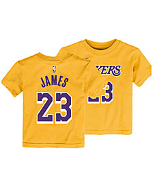 Outerstuff Los Angeles Lakers Replica Name and Number T-Shirt, Toddler Boys (2T-4T)