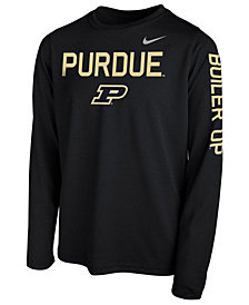 Nike Purdue Boilermakers Legend Long Sleeve T-Shirt, Big Boys (8-20)