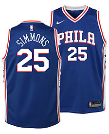 Nike Ben Simmons Philadelphia 76ers Icon Replica Jersey, Little Boys (4-7)