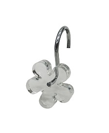 Flower Chrome Shower Hooks