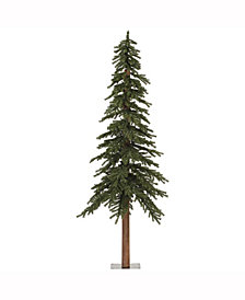 7' Natural Alpine Artificial Christmas Tree with 300 Clear Lights