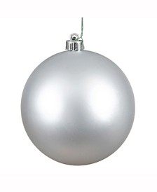"6"" Silver Matte Ball Christmas Ornament, 4 per Box"