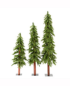 4' 5' 6' Natural Alpine Artificial Christmas Tree Unlit