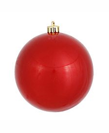 "Vickerman 6"" Red Candy Ball Christmas Ornament, 4 per Bag"