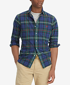 Polo Ralph Lauren Men's Big & Tall Classic-Fit Plaid Oxford Shirt