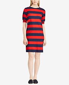 Lauren Ralph Lauren Petite Striped T-Shirt Dress