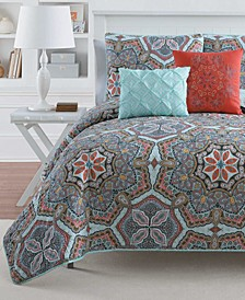 Yara Reversible 3-Pc. Full/Queen Quilt Set