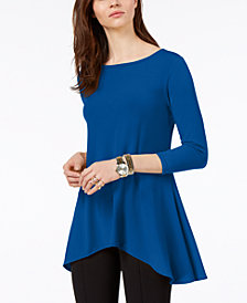 Alfani Jersey High-Low Tunic, Created for Macy's: