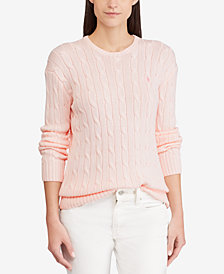 Polo Ralph Lauren Pink Pony Cable-Knit Sweater
