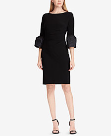 Lauren Ralph Lauren Ruffled-Sleeve Sheath Dress