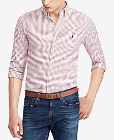 Polo Ralph Lauren Men's Classic-Fit Checked Twill Shirt