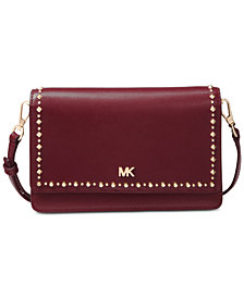 MICHAEL Michael Kors Studded Leather Phone Crossbody