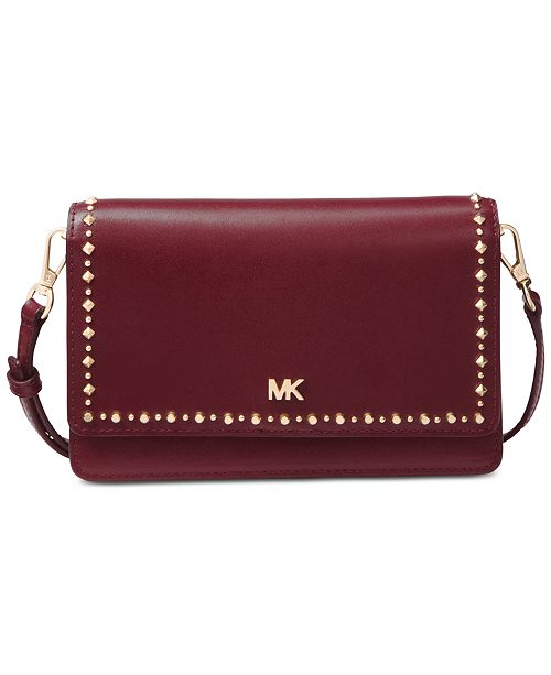e83f605a28c1 Michael Kors Studded Leather Phone Crossbody & Reviews ...