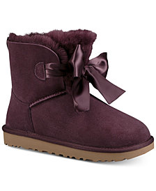 UGG® Women's Gita Bow Mini Booties