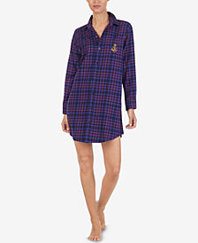 Lauren Ralph Lauren Cotton Plaid Sleepshirt