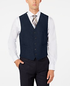 Ryan Seacrest Distinction™ Men's Modern-Fit Stretch Solid Vest, Created for Macy's