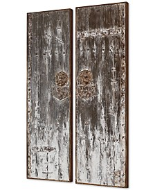 Uttermost Giles Aged Wood Wall Art Set of 2