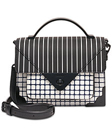 DKNY Jaxone Leather Top Handle Flap Crossbody, Created for Macy's