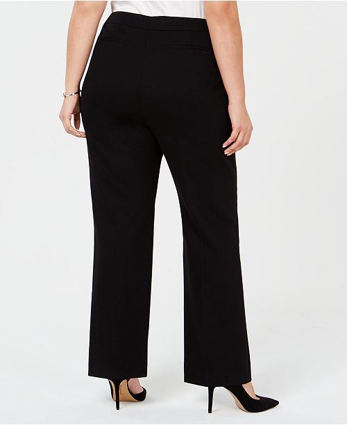 745f1591497 Anne Klein Plus Size Wide-Leg Trousers   Reviews - Pants   Capris ...
