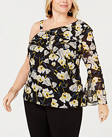 I.N.C. Plus Size One-Shoulder Top, Created for Macy's