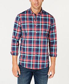 Club Room Men's Plaid Performance Shirt, Created for Macy's