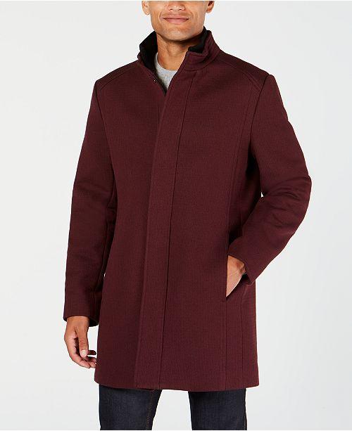 Macy's Alfani Top For Mock Textured Men's Collar CoatCreated F1KJcTl