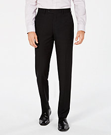 Bar III Men's Slim-Fit Black Tonal Plaid Dress Pants, Created for Macy's