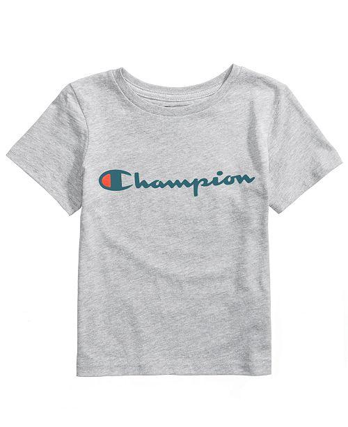 441ddb48 Champion Heritage Logo-Print T-Shirt, Toddler Boys & Reviews ...